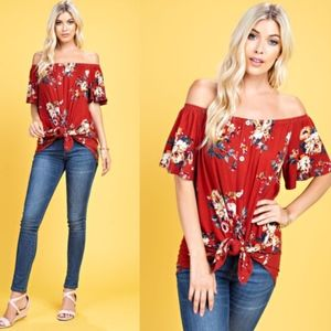 SHELLY Front Tie Top